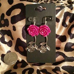 Rose Stemmed Earrings